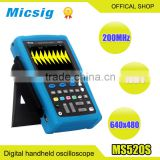 Micsig digital handheld oscilloscopes MS520 200MHz isolated channel USB storage multimeter