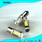 NEW! high quality 12v w5w high power cob led S25 1156 1157 ceramic car tuning light bulb socket