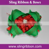 4 Inch Korker Ribbon Big Hair Ribbon Bows With Rhinestone