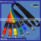 2015 HOT! sublimation lanyard with double metal hooks at each end