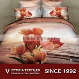 2015 NEW 3D printed 100% cotton bedding comforter cover set floral series