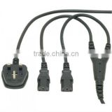 Power cable UK power cords Y cable UK Mains Lead Power Splitter Cable