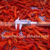 Frozen IQF red pepper dices and strips