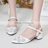 2015 newest design pure and fresh lady shoes low heel lacing casual shoes PE3450