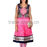 Women's, girls stylish kurti, Heavy Embroidery sleeveless Kurti, Kurta, partywear Dress, EthenicWear