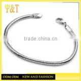 Cheap Wholesale Snake Silver Stainless Steel Chains to Bracelets Necklace Making Jewelry(SC-002)