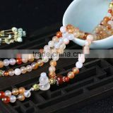 Beautiful natural three-color agate bracelet for ornament