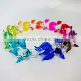 Tiny Goldfish Hand Painting Colorful Multicolor Blown Glass Art Figurines Home Decor / Fish Collection