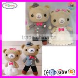 A828 High Quality Couple Animal Stuffed Doll Toy Crochet Doll Handmade