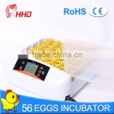 HHD Brand Best quality Solar Chicken Egg Incubator for Sale with LED Egg Tester YZ-56S