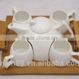 New style bamboo ceramic tea pot