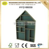 house shaped wood display against wall wholesale
