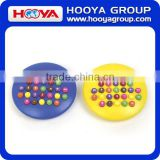 Creative Suitable for Gifts and Premiums Calculator Round Hamburger Calculator With Coloured Buttons