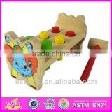 2015 New kids wooden hammer toy, popular children wooden hammer toy and hot sale fashion baby wooden hammer toy W11G014