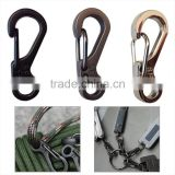 EDC Mini Spring Clasp Outdoor Hiking Camping Carabiner Backpack Buckle Survival Tool Travel Kit Paracord Accessories