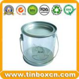 PVC Tin,Transparent Tin Box,Tin Can with Trasparent Body