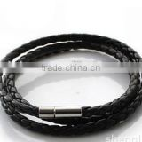Cool Colorful Plain Braided Leather Cord DIY Clasp Bracelet Leather Jewelry, Accessories for Beads Bracelet Jewelry