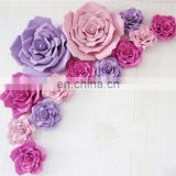 Beautiful Rose Design Handmade PE Paper Flower Wedding Party Decoration Artificial Craft Unique Backdrop