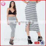 2015 New Trend Maxi Beautiful Girl Striped Skirt Sexy Skirt Sex Pics
