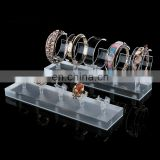 "Custom Luxury Lucite Perspex Jewelry Stand ""C"" Ring Shape Counter Acrylic Bracelet Display Holder Rack"