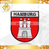 Custom Hamburg Embroidery Patch with Iron-on Backing