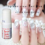 3g clear Nail glue cyanoacrylate nail art for stick fake/artificial nail