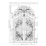 wrought iron door with transom