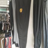 Men's sports trousers, body and feet, casual trousers, embroidered men's trousers.