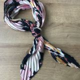 polyester printed pleating scarf
