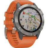 Garmin fenix 6 Multisport GPS Smartwatch (47mm, Sapphire, Titanium / Ember Orange Band) Price 175usd
