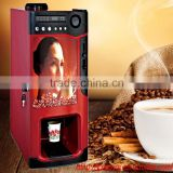2015 manufacturer 3 hot drinks Antomatic Tea Coffee Vending Machine With Coin Operated and Cup Dispenser