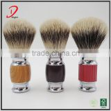 Customized metal handle shaving brush,badger hair shaving brush