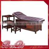 Guangzhou Beiqi Beauty Salon Furniture Therapeutic Wooden Massage Bed Spa Bed for Facial Salon