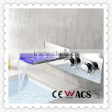 LED sink faucet ,Led light faucet,Rainfall basin wall-mounted faucets