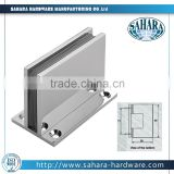 square 90 degree fixed shower door pivot hinge,connection with wall glass and wall connector