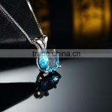 Fashionable 925 sterling silver imitation jewellery stones/hot sale blue stone imitation jewellery