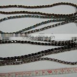 Black/Gold, Blue/Gold, Brown/Gold COLOR Glass, Round Beads Gold, 4x5.3MM