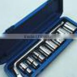 auto Maintenance 6pts Electrophoresis Plastic box L socket wrench set