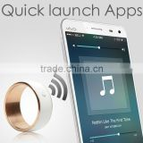 High waterproof Titanium stainless steel NFC Smart ring for the Key of intelligent door lock