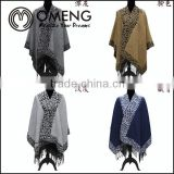 Hot Sale Women's Fashion Wool Coat Ladies' Noble Elegant Cape/Shawl. ladies poncho wrap scarves coat