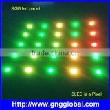 GnG Shenzhen hot product for night club decoration, dmx rgb led panel 350*350mm with 5*5 pixel slim panel light