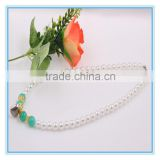 Fashion Bridal Costume Jewellry Heart Pendant Beads Pearl Necklace Designs Chain Jewelry