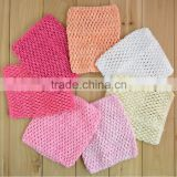 6 Inch cute New Baby Girl Elastic Rayon Waffle Headwears Crochet Tutu Tube Tops Chest Wrap
