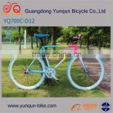 700C*40MM fixie gear bike/ rainbow COLOR Track Bike/ cheap fixed gear bicycle/ H:50/54cm