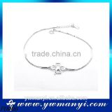 Simple Europe design chain lucky flower foot jewelry anklets F0006                                                                         Quality Choice