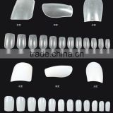 100 pc full cover nail tips with white,,natural color, artificial nails