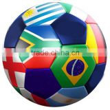 Top Quality Brazil Flag Design PVC Official Soccer Ball for Training and Matches