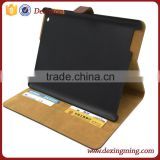 stand leather case for iPad air 2 with card pocket and money compartment