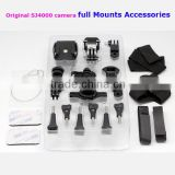 2014 Most Popular SJ4000 Sport Camera Full set Mounts Accessory Bicycle Scooter Helmet Mount Holder Sports DV Fitting for SJ4000