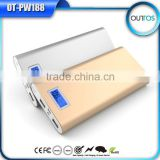 Dual USB Portable travel charger mi power bank 16000mah